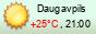 Прогноз погоды Даугавпилс